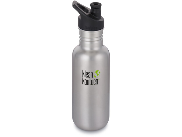 Klean Kanteen Classic Gourde Bouchon sport 532ml, brushed stainless